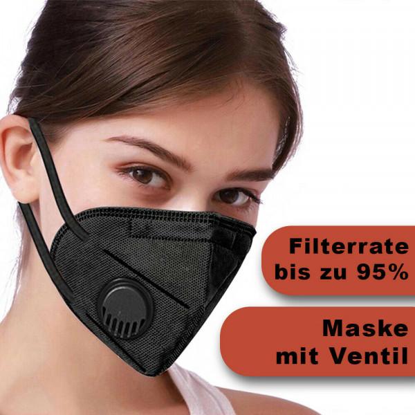 Wiederverwendbare Maske Schwarz