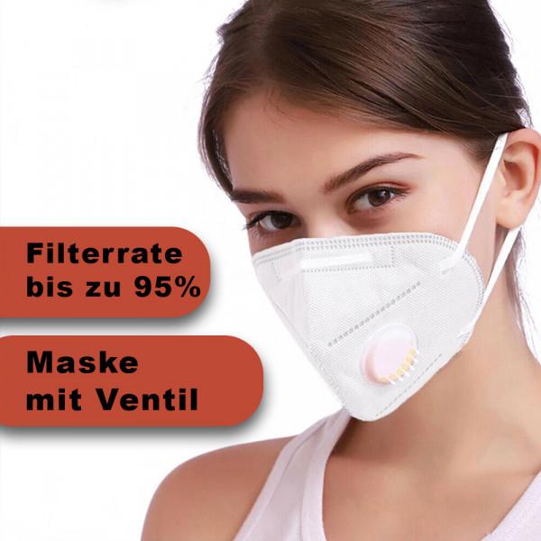 Wiederverwendbare Maske Weiß