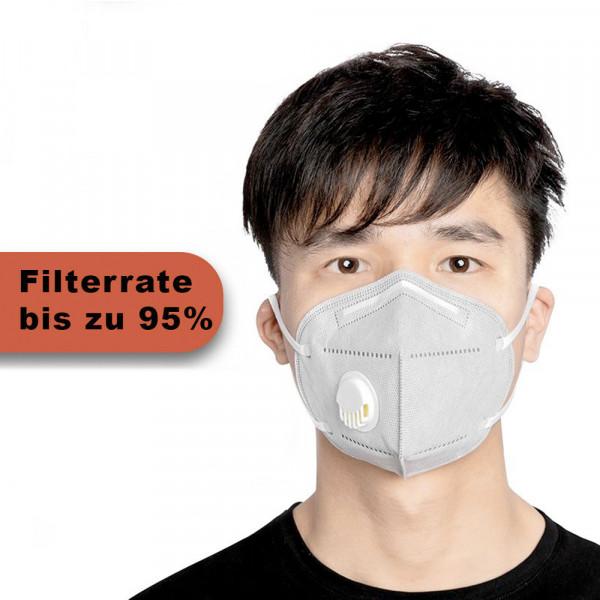 Wiederverwendbare Maske Grau